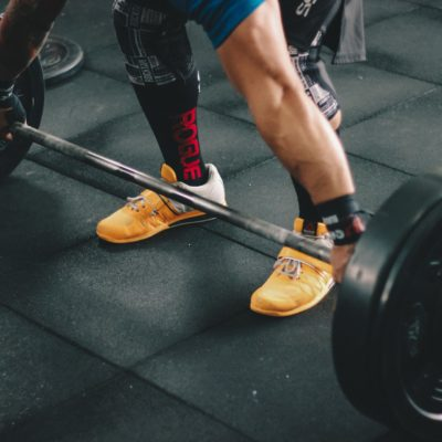 Gym entrepreneur with flooring manufacturers for success