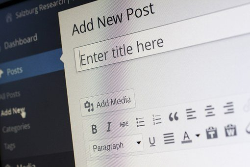 Wordpress, Blogging, Blogger, Editor